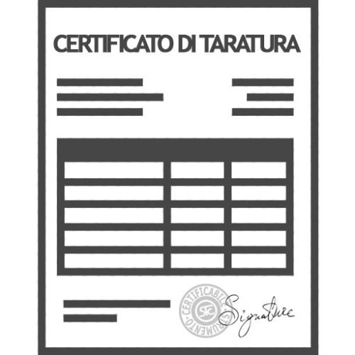Certificato di Taratura su Calibro a corsoio fino a 200 mm